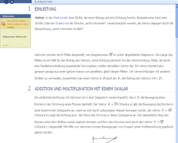 "Inhaltsvergleich (""Vektor""): Encarta"