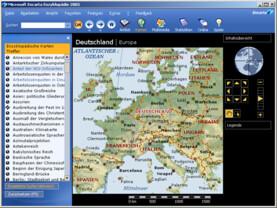 Encarta 2005 (Standard): enzyklopädische Karten
