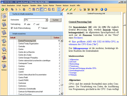 Wikipedia (CD): Hauptseite