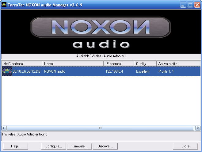 Noxon Audio Manager