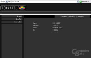 Browser-Zugriff auf den NOXON im Netzwerk
