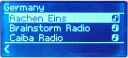 Noxon Audio - Display - Internet-Radio - Sender aus Deutschland