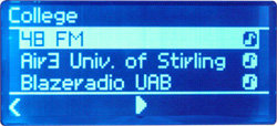 Noxon Audio - Display - Internet-Radio - Senderauswahl