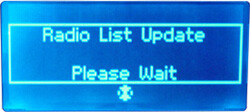 Noxon Audio - Display - Update der Radioliste