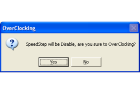 Speed Step disabled