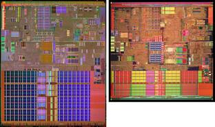 Unter der Haube - Pentium 4 6xx und 5xx (rechts)