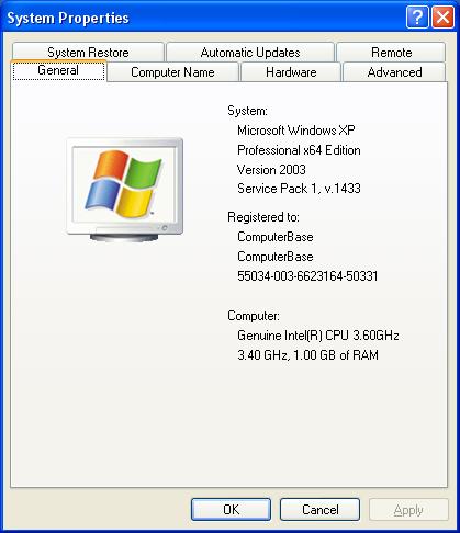 Windows XP x64 auf Intel Pentium 4 650