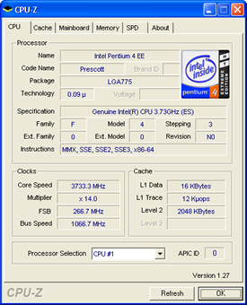 Intel Pentium 4 3,73 GHz Extreme Edition