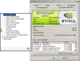 Treibermenü des 66.96 für Windows XP-64