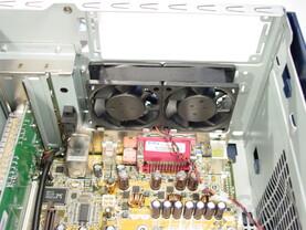 Asus S-presso S1-P111 Deluxe - Installation - Gehäuselüfter an der Rückseite des Barebones