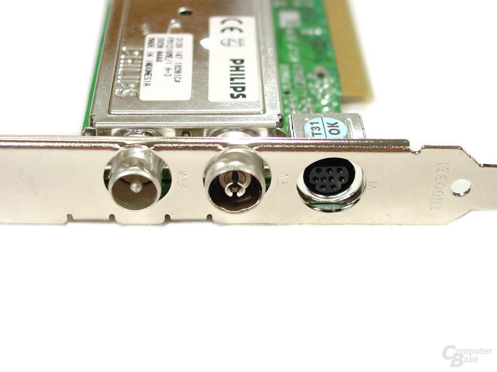Asus S-presso S1-P111 Deluxe - Anschlüsse der TV-FM-Karte
