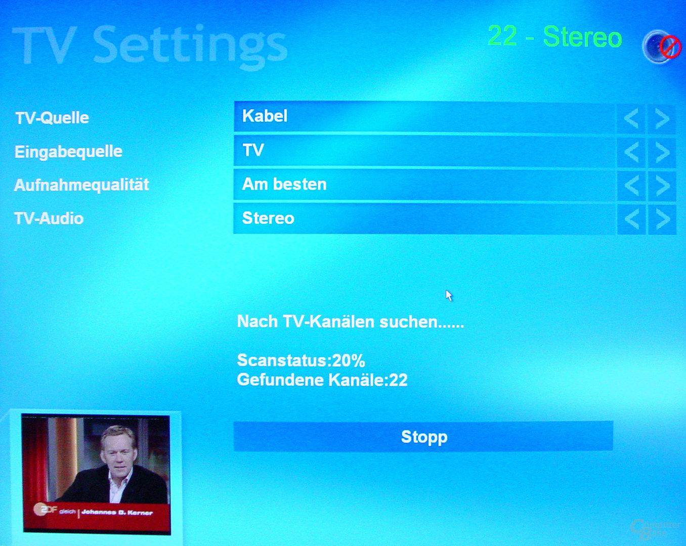 Asus S-presso S1-P111 Deluxe - Multimedia - Sendersuchlauf