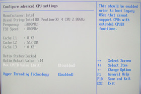 Asus S-presso S1-P111 Deluxe - Bios - Advanced CPU Settings