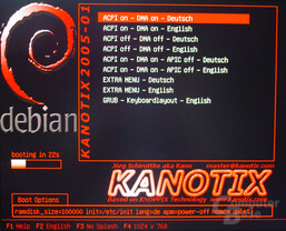 Asus S-presso S1-P111 Deluxe - Linux - Kanotix Bootscreen