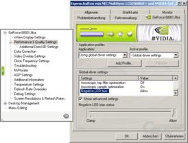 ForceWare 67.03 Clamp-Schalter
