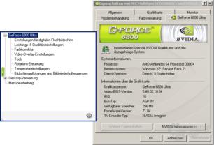 ForceWare 71.84 Menü