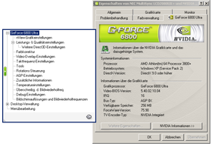 ForceWare 75.90 Menü