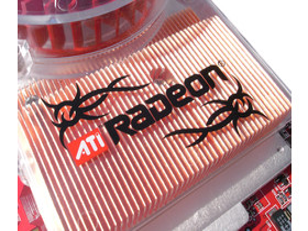 Kupferkühlrippen & Radeon-Logo