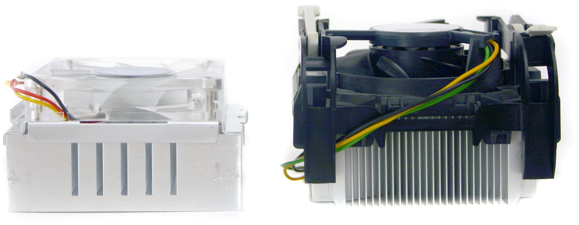 Asus Pentium M Kühler vs. Intel Pentium 4 Boxed Kühler