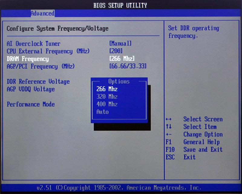 DDR400 bei 200 MHz