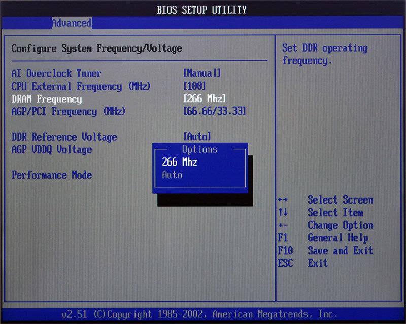DDR266 bei 100MHz