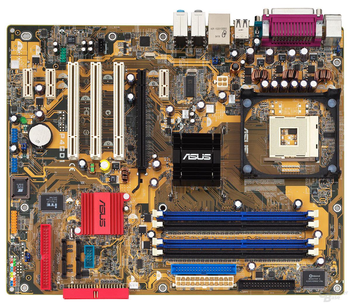 Das Asus P4GD1 (aber auch das P4GPL-X) kann dank 915P- bzw. 915PL-Chipsatz auch mit Features wie PCI Express aufwarten