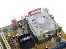 Asus Pentium-Adapter mit Kühler fertig montiert