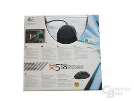 MX518 Verpackung von Hinten