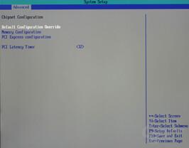 Bios - Chipset Configuration