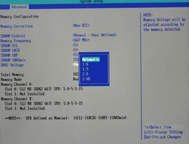 Bios - DDR2 Voltage