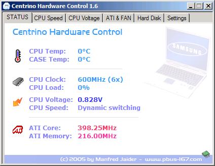 Centrino Hardware Control - Status