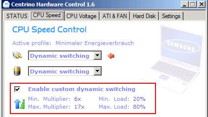 Centrino Hardware Control im Test: Mehr Akkulaufzeit für Centrino