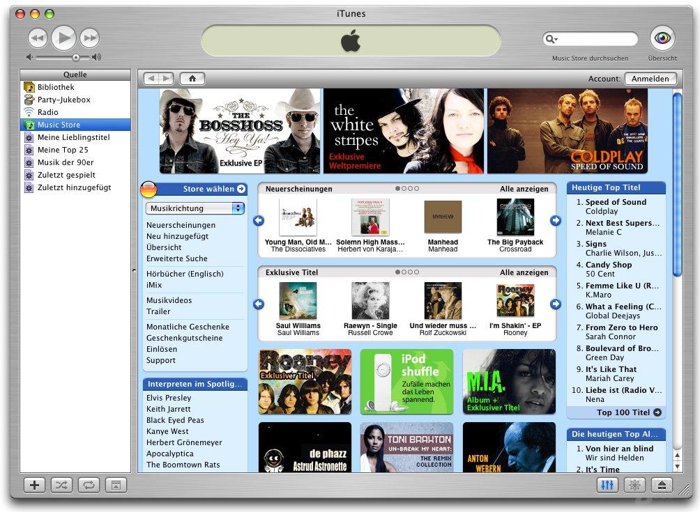 iTunes: Music Store