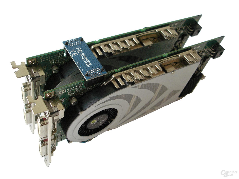 2 GeForce 7800 GTX im SLI-Verbund
