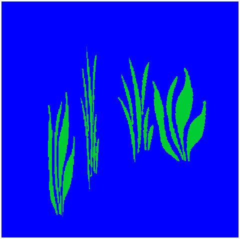 Pflanzentextur ohne Antialiasing