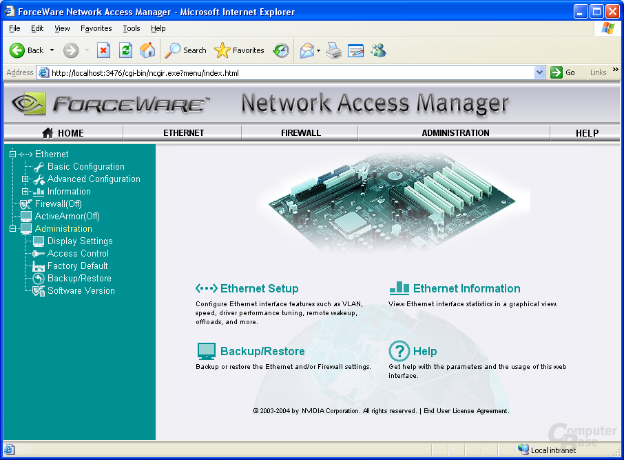nVidia Network Access Manager