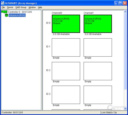 Silicon Image RAID-Tool