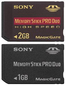 MemoryStick 1GB und 2GB