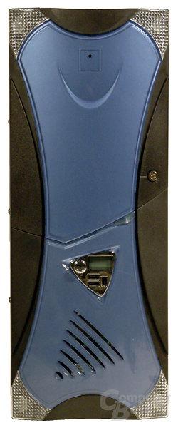 Front mit blauer Blende
