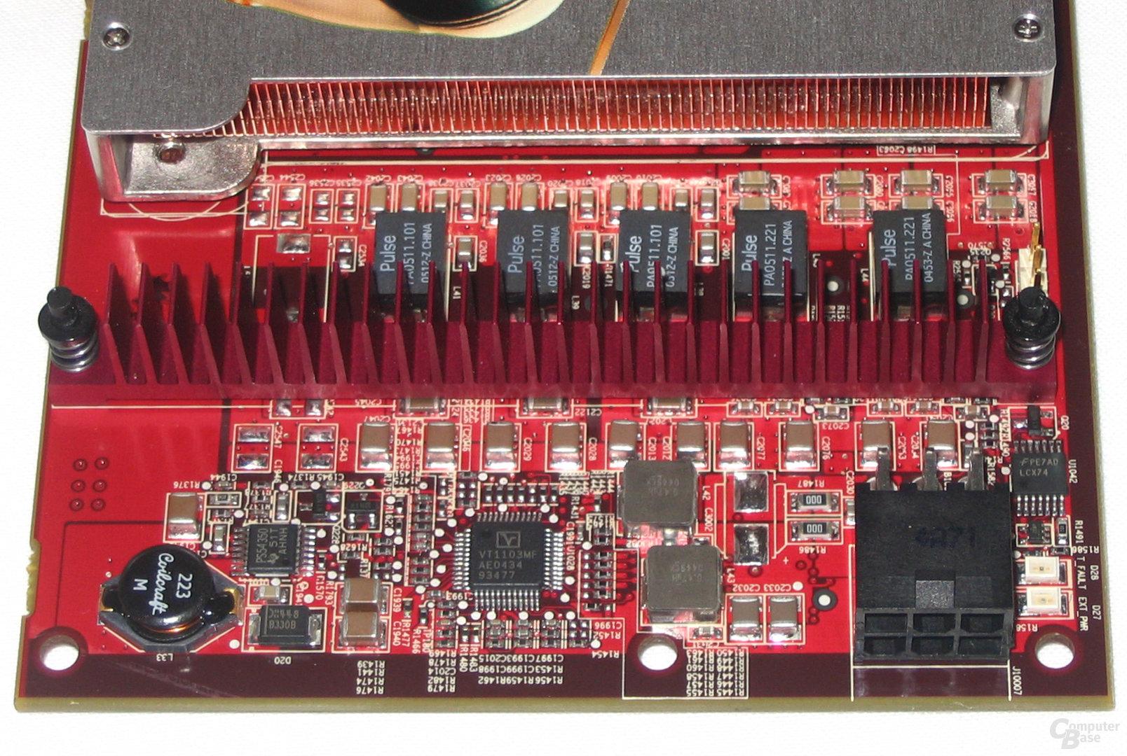 Radeon X1800 XL Spannungswandler