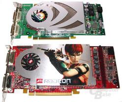 Größenvergleich: Radeon X1800 XL und GeForce 7800 GT