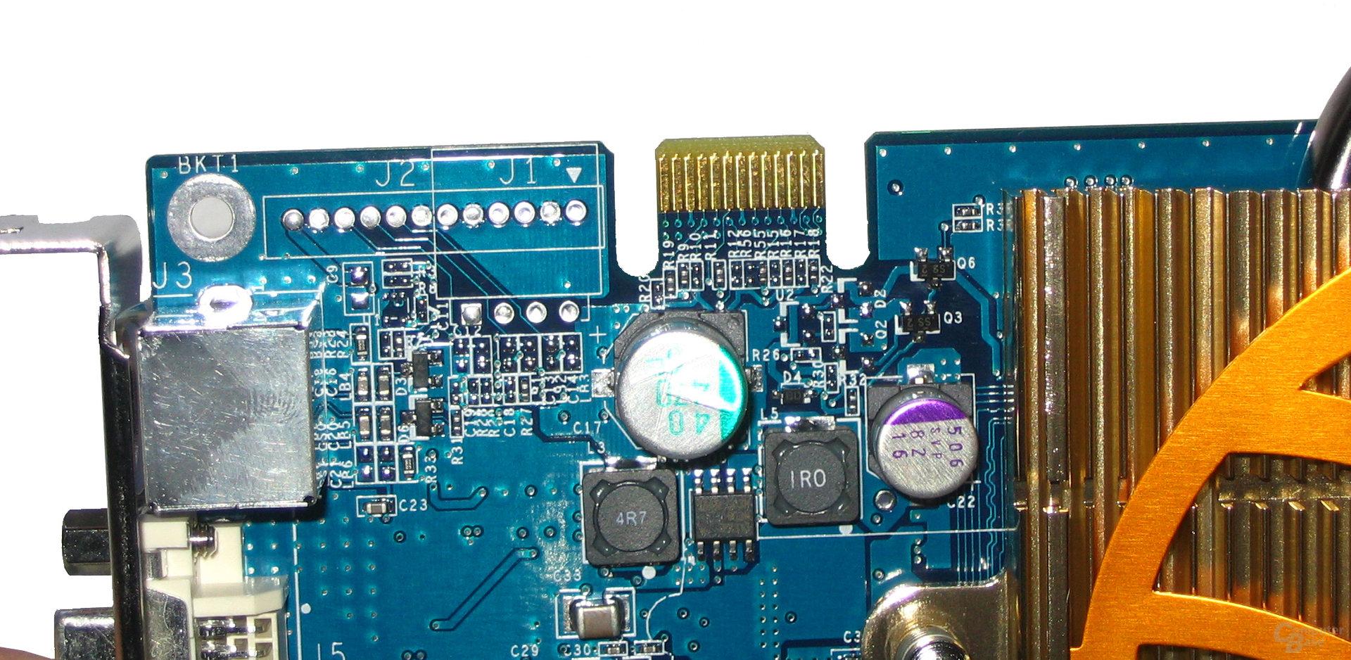 Gigabyte GeForce 6600 GT SLI-Anschluss