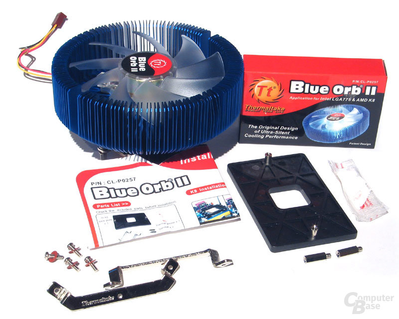 Thermaltake Blue Orb II Lieferumfang