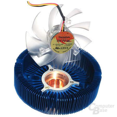 Thermaltake Blue Orb II, Blick auf den Kupferkelch
