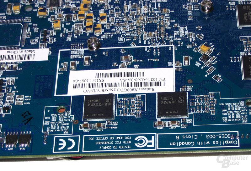 Speicherbausteine Radeon X800 GTO