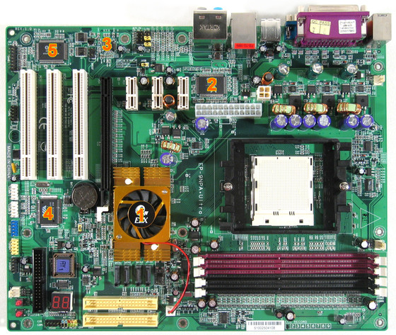 EPoX 9NPA+ Ultra Komponenten