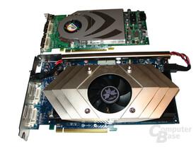 Größenvergleich N7800GT Dual gegen GeForce 7800 GT