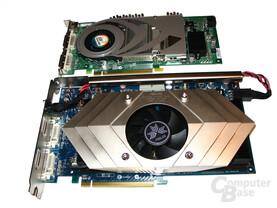 Größenvergleich N7800GT Dual gegen GeForce 7800 GTX
