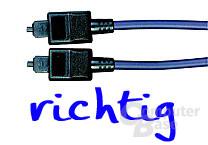 ODT-Toslink-Stecker