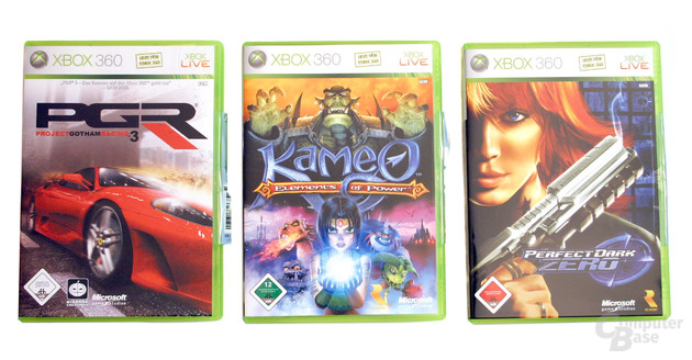Xbox 360 - Kameo: Elements of Power, Project Gotham Racing 3 und Perfect Dark Zero